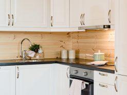 Interiørfoto fra hytte, kjøkken, detaljbilde